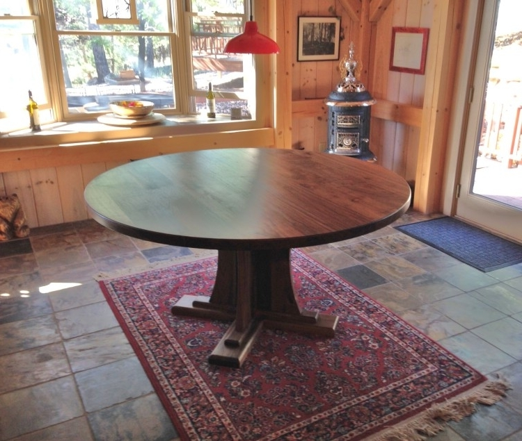 Boulder Furniture Arts Intended For Craftsman Round Dining Tables (View 2 of 20)