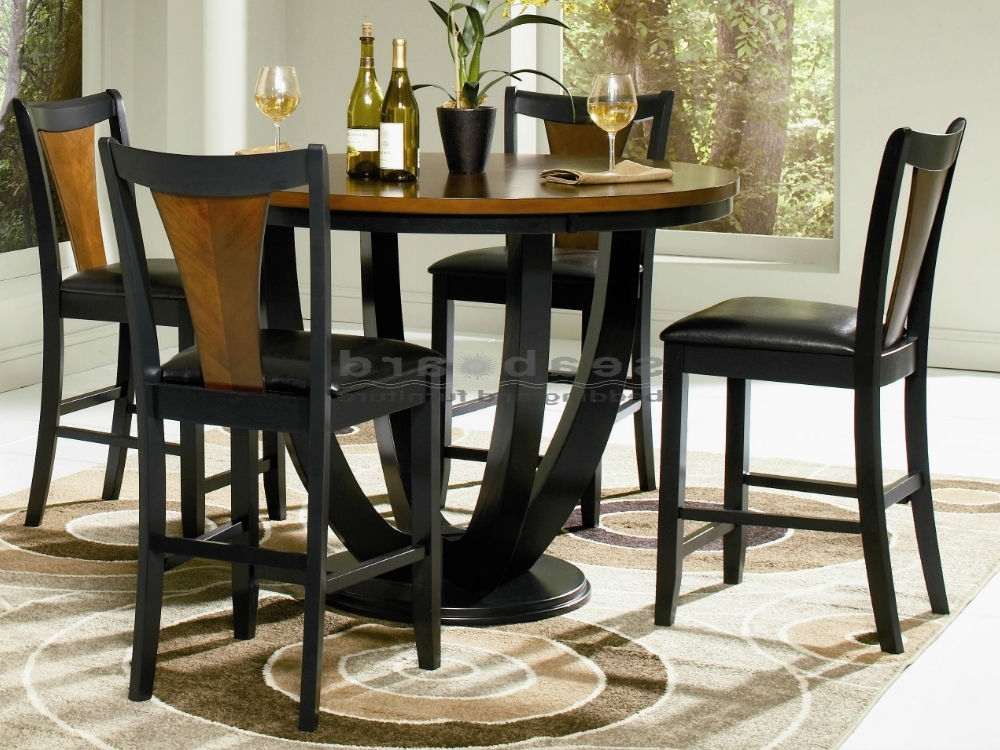 Boyer Two Tone Counter Height Dining Table Set Throughout Most Up To Date Dining Tables And Chairs Sets (View 4 of 20)