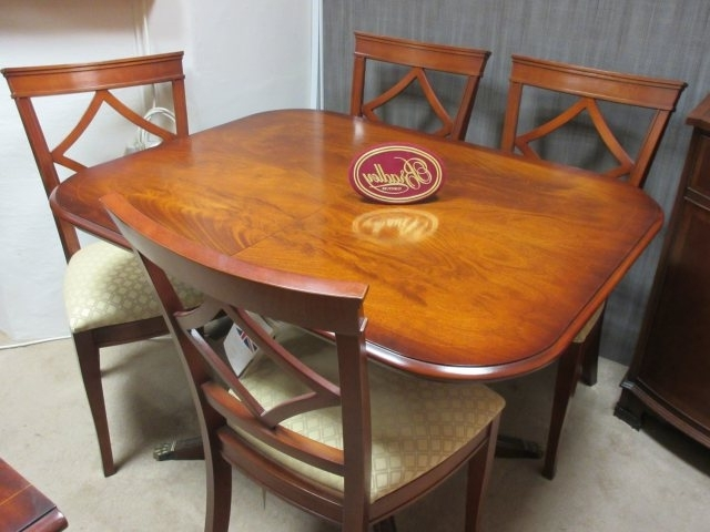 Bradley Furniture – Mahogany Dining Table & 4 Chairs – Clearance Pertaining To Well Known Mahogany Dining Tables And 4 Chairs (View 2 of 20)