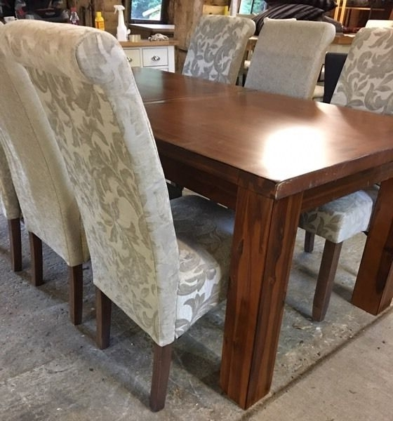 Brand New Ex Demo Furniture Village Kember Solid Acacia Dining Table In 2017 Acacia Dining Tables (View 7 of 20)