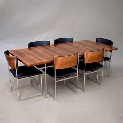 Brazilian Rosewood Sm08 Dining Setcees Braakman For Pastoe Throughout Favorite Helms 6 Piece Rectangle Dining Sets With Side Chairs (View 13 of 20)