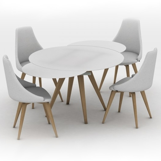 Brembo Round Glass Extending Dining Table With Popular Glass Round Extending Dining Tables (View 5 of 20)
