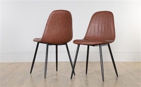 Brown Leather Dining Chairs In Well Known Contemporary & Modern Dining Chairs (View 3 of 20)