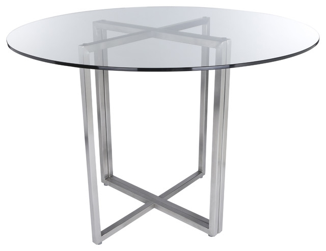 Brushed Steel Dining Tables In Famous Legend Dining Table Base – Contemporary – Dining Tables  Euro Style (View 4 of 20)