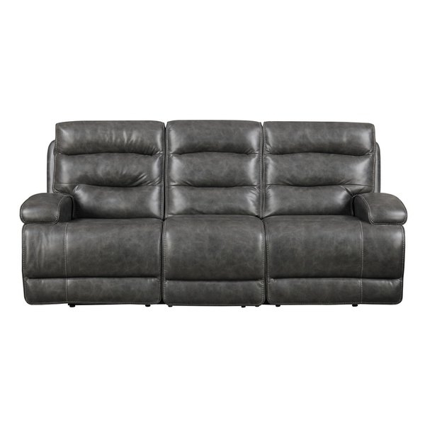 Burton Leather 3 Piece Sectionals Regarding Most Popular Shop Emerald Home Burton Grey Power Motion Sofa – Free Shipping (View 6 of 15)