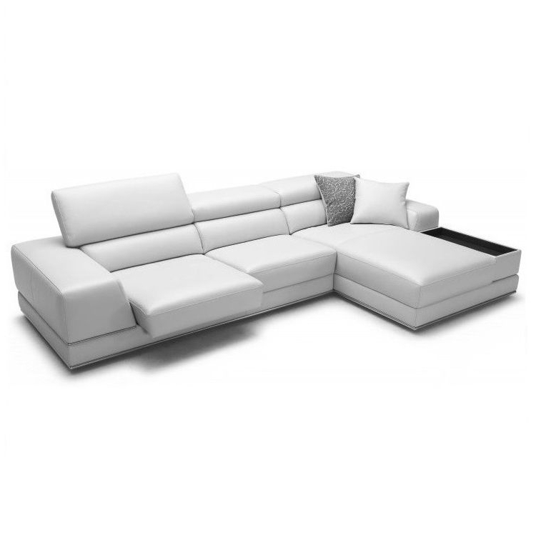 Burton Leather 3 Piece Sectionals Throughout Most Recent Bergamo Sectional Leather Modern Sofa Gray (View 14 of 15)
