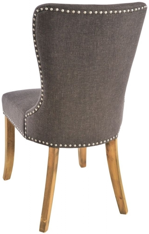 Button Back Dining Chairs In Most Current Buy Adelf Button Back Tiara Grey Fabric Dining Chair (Pair) Online (View 4 of 20)