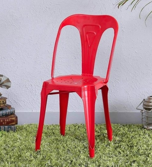 Buy Amos Metal Chair In Red Colorbohemiana Online – Metal Chairs With Most Current Amos Extension Dining Tables (View 8 of 20)