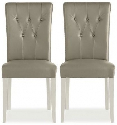 Buy Bentley Designs Hampstead Soft Grey And Weathered Oak Throughout Most Current Oak Leather Dining Chairs (View 3 of 20)