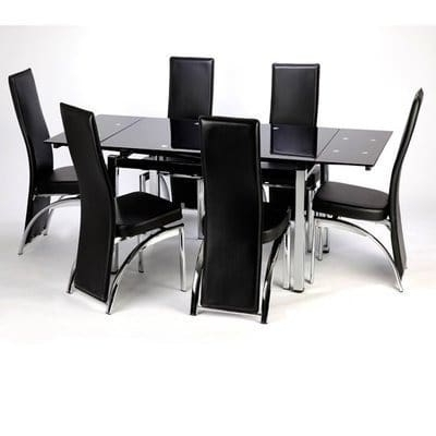 Buy Extending Dining Table With 6 Chairs In Table & Chair Sets From With Regard To Newest Extendable Glass Dining Tables And 6 Chairs (View 6 of 20)