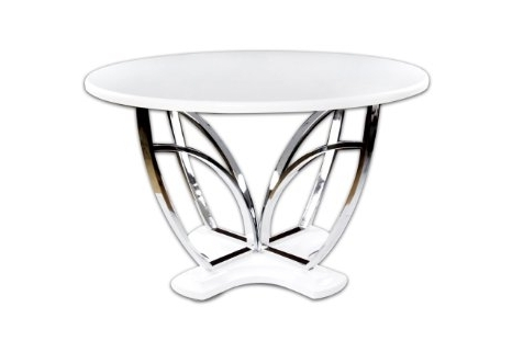 Buy Furniture Of America Hayden Round High Gloss Lacquer Dining With Regard To Well Liked Round High Gloss Dining Tables (View 18 of 20)