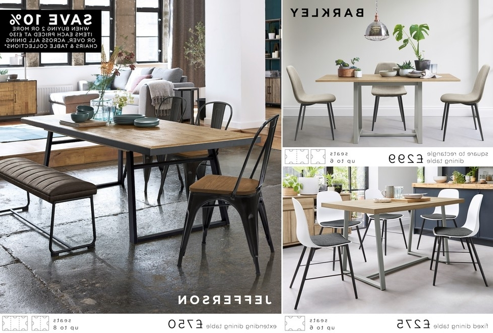 Buy Jefferson Extending Dining Table From The Next Uk Online Shop Intended For Well Known Jaxon Grey 6 Piece Rectangle Extension Dining Sets With Bench & Uph Chairs (View 4 of 20)