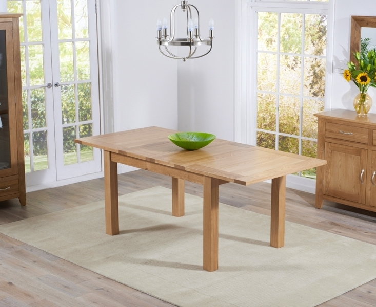 Buy Mark Harris Cambridge Solid Oak Dining Table – 130Cm Rectangular For Famous Cambridge Dining Tables (View 3 of 20)