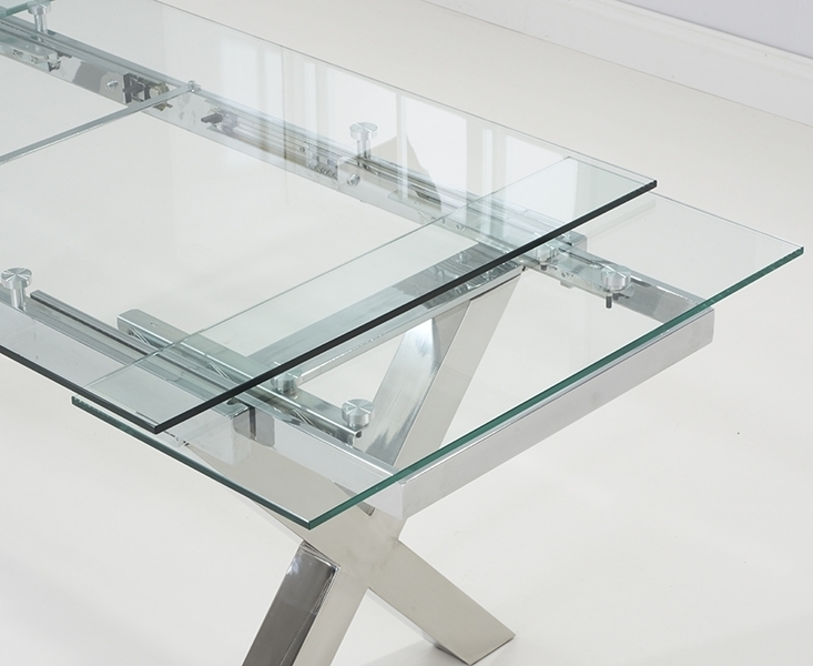 Buy Mark Harris Cilento Glass Dining Table – 160Cm Rectangular In Most Up To Date Glass Folding Dining Tables (View 3 of 20)