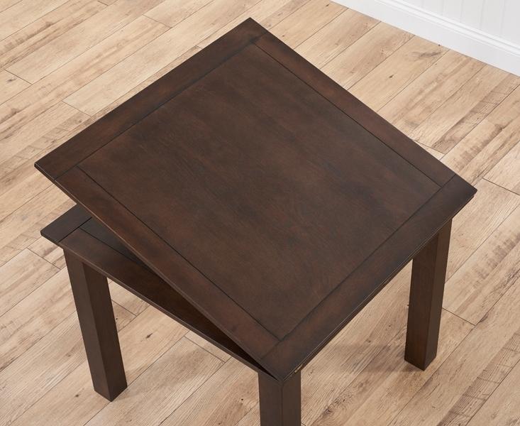 Buy Mark Harris Sandringham Solid Dark Oak Dining Table – 90Cm Inside Famous Flip Top Oak Dining Tables (View 1 of 20)