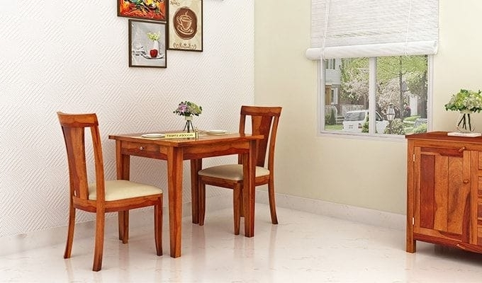 Buy Mcbeth Storage 2 Seater Dining Table Set (Honey Finish) Online In Well Liked Two Seater Dining Tables (View 6 of 20)