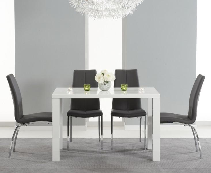Buy Nikita High Gloss White Dining Table 80, 120 Or 160 Cm For Newest Gloss White Dining Tables (View 3 of 20)