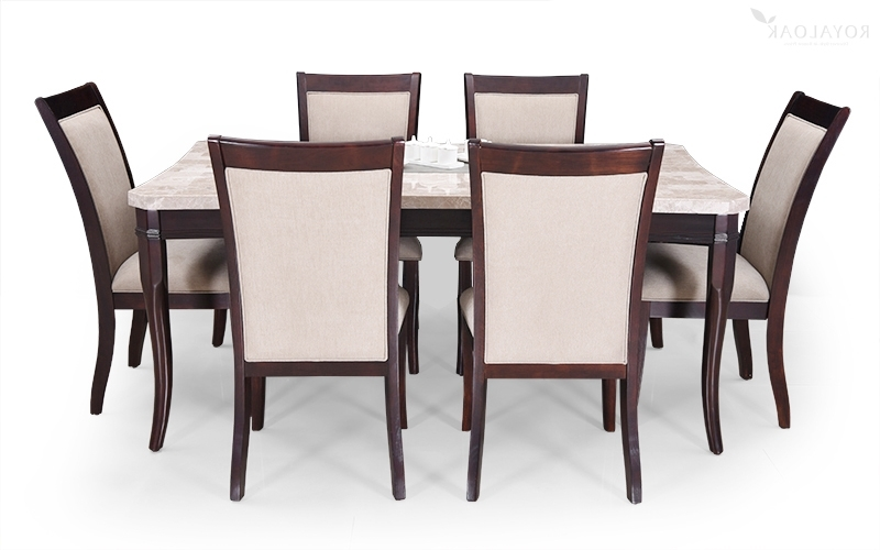 Buy Royaloak Oscar 6 Seater Dining Set With Italian Natural Marble With Widely Used Dining Tables For Six (View 15 of 20)