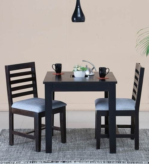 Buy Stigen Solid Wood Two Seater Dining Set In Warm Chestnut Finish Pertaining To Popular Two Seat Dining Tables (View 2 of 20)