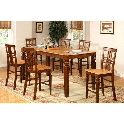 Buy Wade Logan Waverly 5 Piece Counter Height Dining Set Within Popular Logan 7 Piece Dining Sets (View 15 of 20)