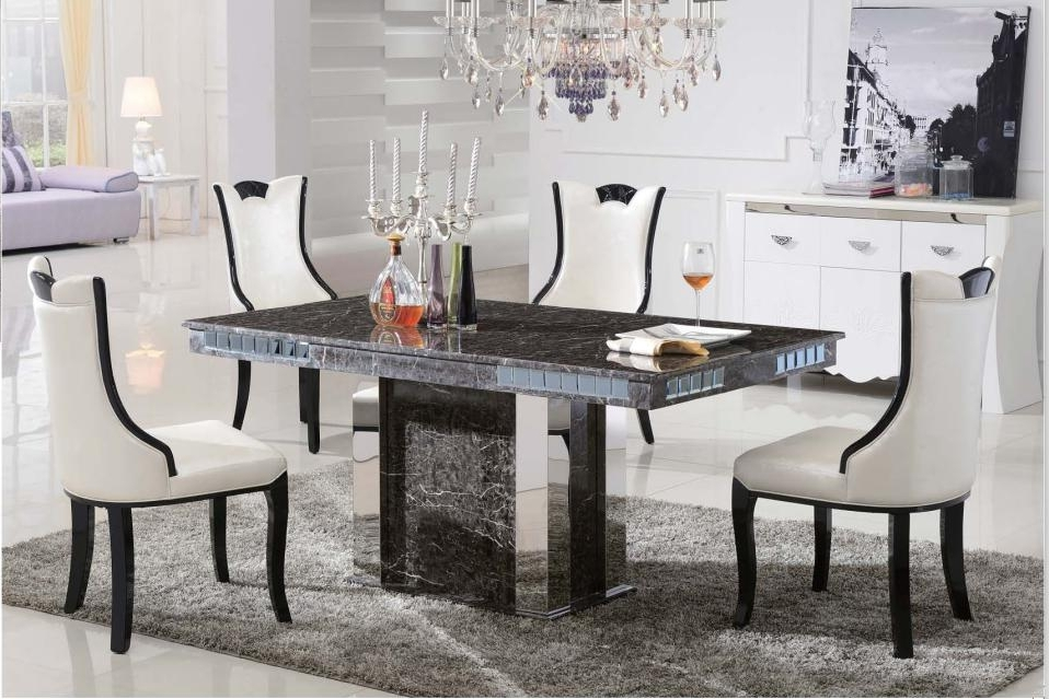 C3035 Luxury Marble Dining Table – Fortune Furniture With Regard To Preferred Marble Dining Chairs (View 2 of 20)