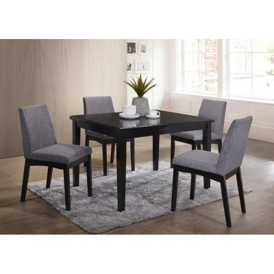 Caden 5 Piece Round Dining Sets With Upholstered Side Chairs In Best And Newest Home Source Industries Mattie Dining Table – H 6064 T Mop (View 2 of 20)