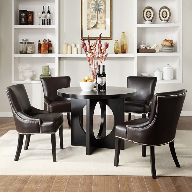 20 Tropical Dining Room Ideas For 2018: Best 20+ Of Caden 5 Piece Round Dining Sets With