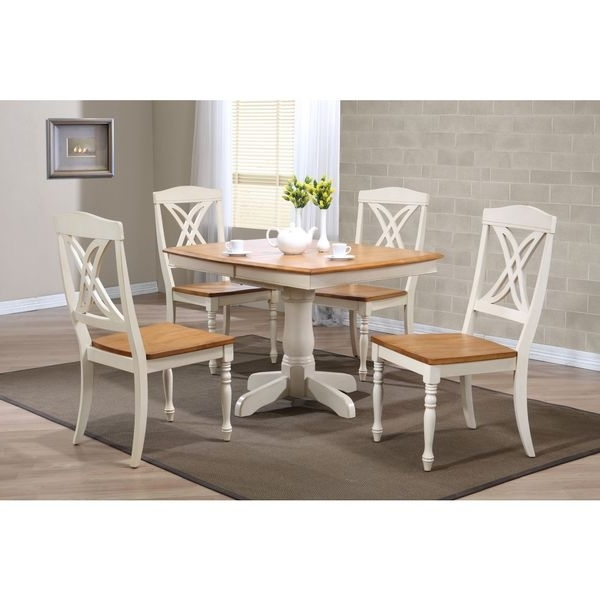 Caden 5 Piece Round Dining Sets With Upholstered Side Chairs With Popular Boat Shaped Caramel/ Biscotti Butterfly Back 5 Piece Dining Set (View 5 of 20)