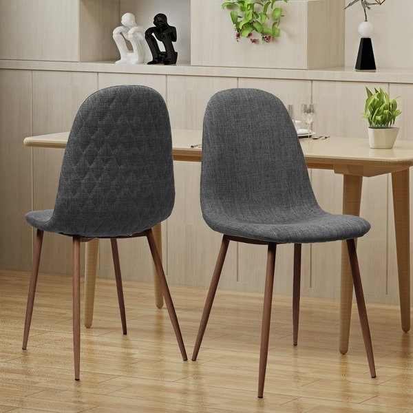 Caden 5 Piece Round Dining Sets With Upholstered Side Chairs With Regard To Latest Shop Caden Mid Century Fabric Dining Chair (Set Of 2)Christopher (View 6 of 20)