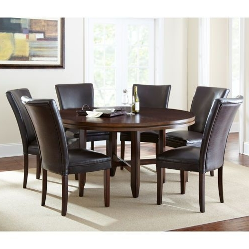 "Caden 7 Piece Dining Sets With Upholstered Side Chair With Current Caden 7 Piece Dining Set With 62"" Table Valid 9/1/13 Through 9/30/ (View 2 of 20)"