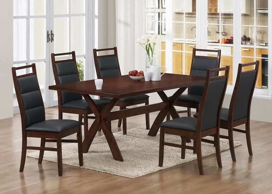 Caira 7 Piece Rectangular Dining Sets With Upholstered Side Chairs Inside Newest Part Of Modern Collection, This Dining Room Set Comes In A Wonderful (View 16 of 20)