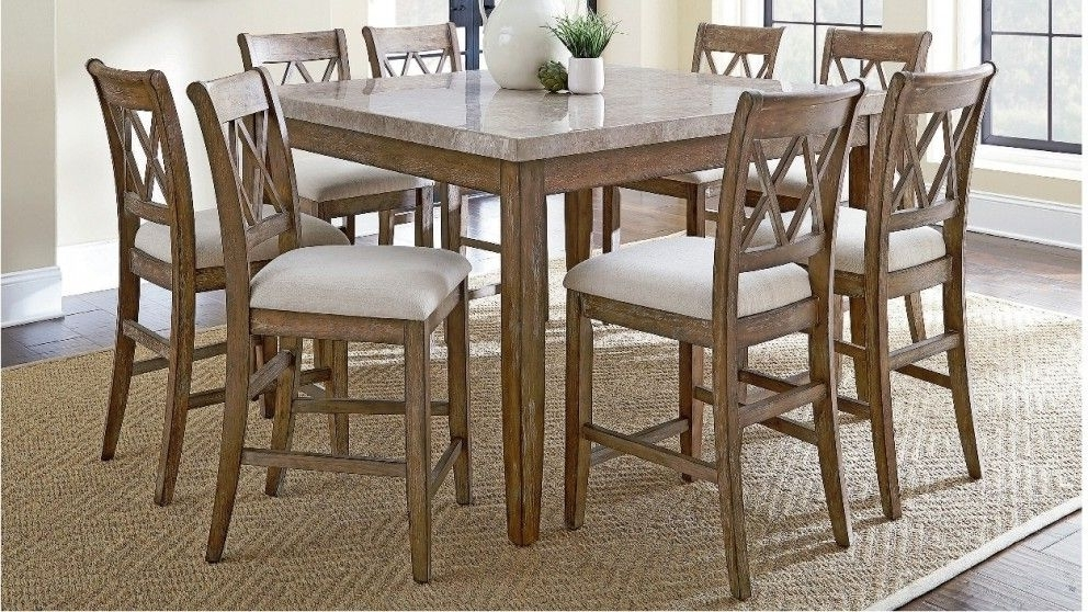 Caira 7 Piece Rectangular Dining Sets With Upholstered Side Chairs Regarding Favorite Dunedin 9 Piece High Dining Suite – Dining Furniture – Dining Room (View 6 of 20)