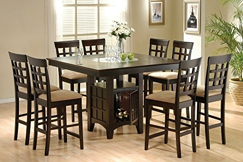 Caira 9 Piece Extension Dining Sets Throughout Well Liked Counter Height Dining Room Sets (View 2 of 20)