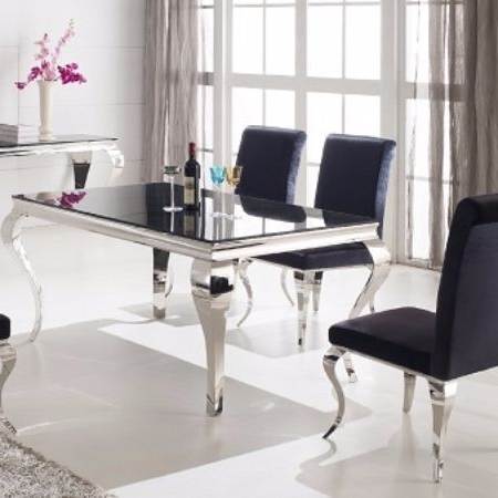 Caira Black 7 Piece Dining Sets With Arm Chairs & Diamond Back Chairs For Most Recently Released The French Contemporary Dining Table Is Sure To Impress With A Eye (View 2 of 20)