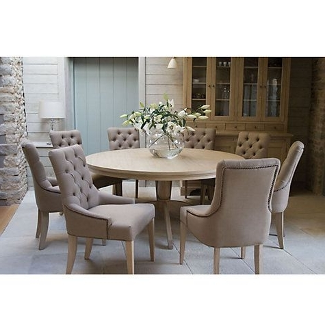 Caira Black 7 Piece Dining Sets With Arm Chairs & Diamond Back Chairs Inside Recent Buy Neptune Henley 8 Seater Round Dining Table Online At Johnlewis (View 4 of 20)