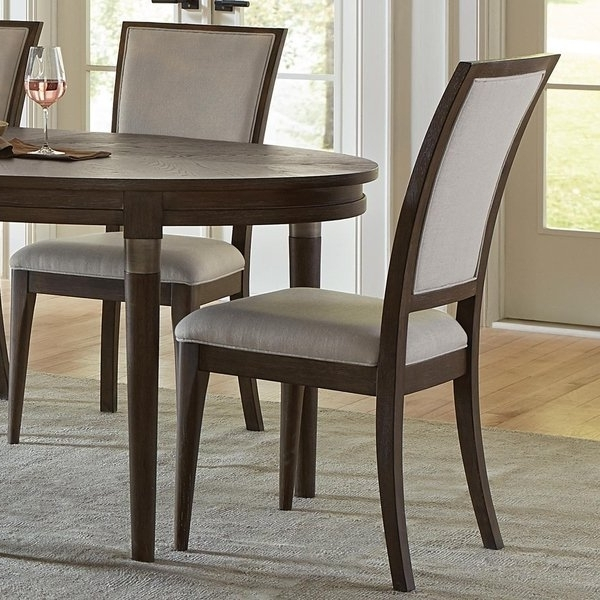 Caira Black 7 Piece Dining Sets With Upholstered Side Chairs Within Most Popular Joelle Upholstered Side Chair – Free Shipping Today – Overstock (View 4 of 20)