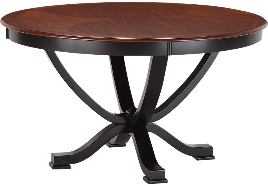 Caira Black Round Dining Tables With Regard To 2017 Dining Tables: Outstanding Black Round Dining Table Round Dining (View 2 of 20)