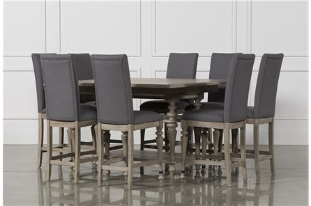 Caira Upholstered Counterstool, Grey (View 2 of 20)