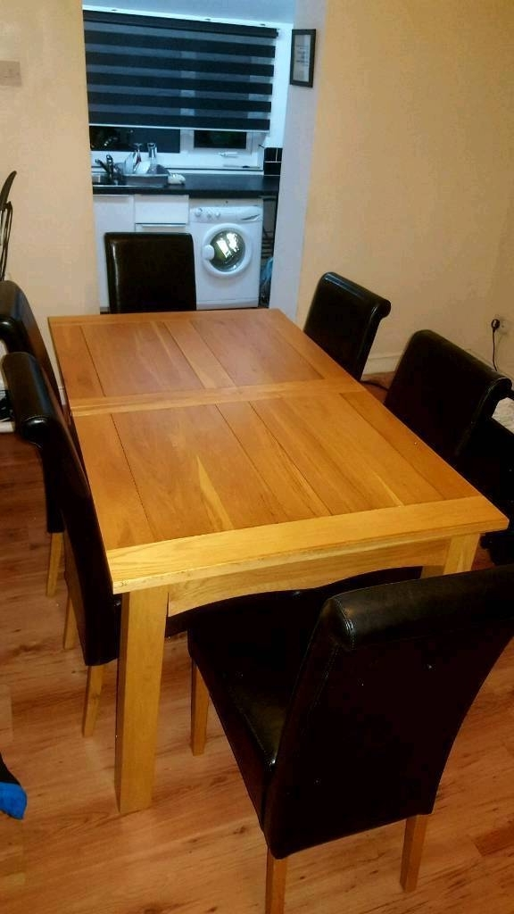 Cairo Solid Oak Dining Table And 6 Chairs From Oak Furniture Land Within Most Popular Solid Oak Dining Tables And 6 Chairs (View 20 of 20)