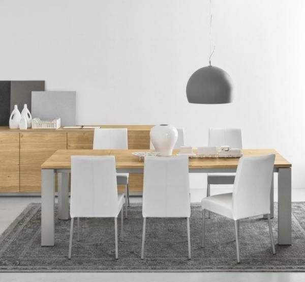 Calligaris Gate Extending Dining Table In Within Brushed Metal Dining Tables (View 6 of 20)