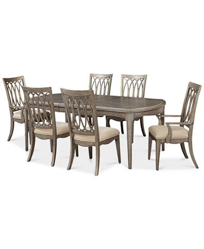 Candice Ii 5 Piece Round Dining Sets With Slat Back Side Chairs With Widely Used Kelly Ripa Home Hayley 7 Pc (View 5 of 20)