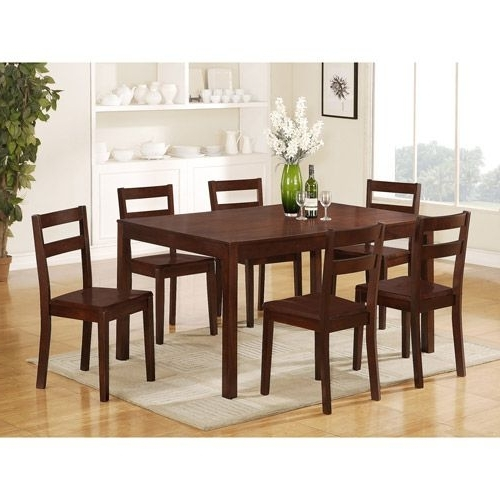 Candice Ii 7 Piece Extension Rectangle Dining Sets Inside Most Recent Mainstays Parsons 7 Piece Dining Set, Espresso $ (View 8 of 20)