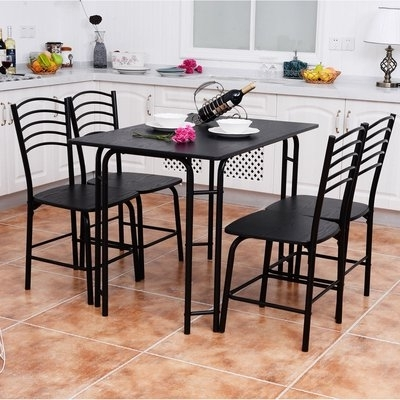 Candice Ii 7 Piece Extension Rectangular Dining Sets With Slat Back Side Chairs Inside 2018 Winston Porter Ephraim 5 Piece Dining Set In  (View 1 of 20)