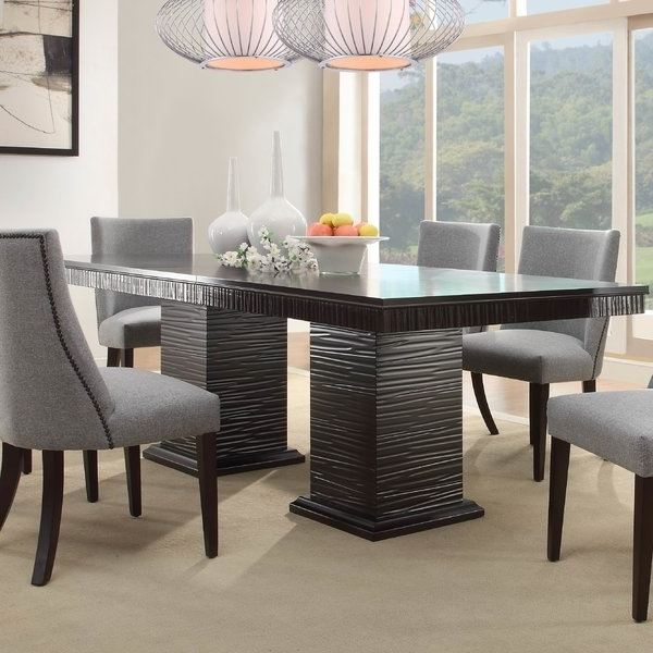 Candice Ii 7 Piece Extension Rectangular Dining Sets With Uph Side Chairs Throughout Widely Used Willa Arlo Interiors Cadogan Extendable Dining Table & Reviews (View 5 of 20)