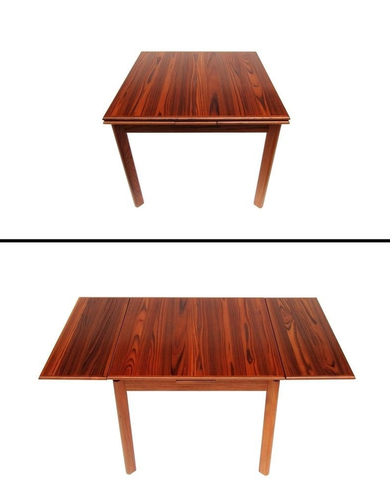 Candice Ii Extension Rectangle Dining Tables Inside Widely Used Danish Modern Brdr Furbo Spottrup Square Teak Expandable Leaf Dining (View 2 of 20)