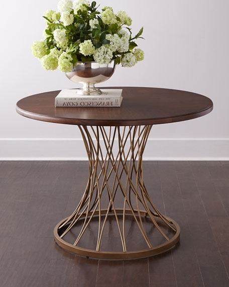 Candice Olson Vortex Round Entry Table Intended For Widely Used Candice Ii Round Dining Tables (View 12 of 20)