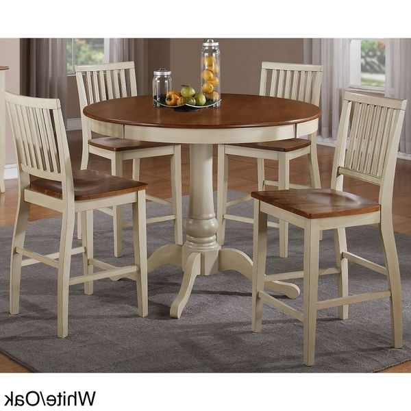 Carla Counter Height 5 Piece Dining Set – Overstock™ Shopping – Big Throughout Recent Candice Ii 5 Piece Round Dining Sets (View 8 of 20)