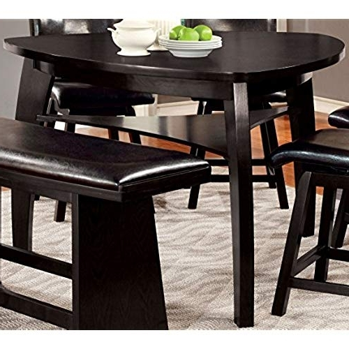 Carly 3 Piece Triangle Dining Sets Throughout Most Recent Triangle Dining Table: Amazon (View 4 of 20)
