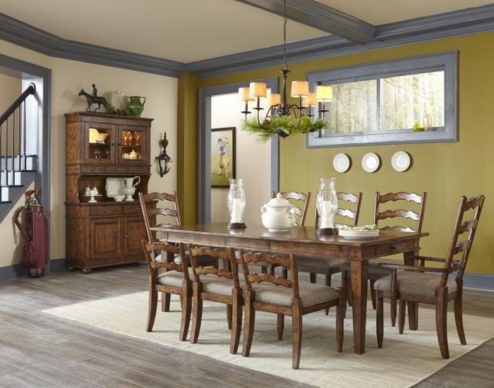 "Carly Rectangle Dining Tables In Most Up To Date Klaussner Southern Pines 86"" Rectangular Dining Table In Pine Ridge (View 5 of 20)"