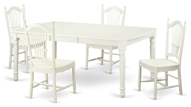 Carly Rectangle Dining Tables Regarding Most Current Carly Rectangular Dining Table Set, White – Traditional – Dining (View 8 of 20)